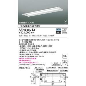 コイズミ照明 格安 AR45857L1 非常用照明 LEDランプ交換可能型 非調光 昼白色 激安特価品 埋込穴1257×300 下面開放タイプ2灯 充電モニタ付