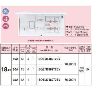電設資材 パナソニック BQE36182T2EV 分電盤 毎日続々入荷 エコキュート EV IH対応住宅用リミッタースペース付 日本限定 PHEV充電回路