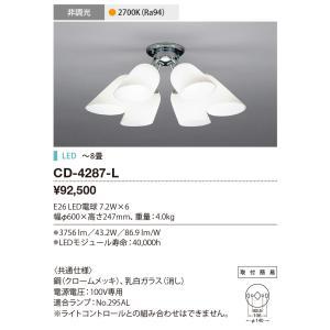 山田照明 YAMADA CD-4287-L スーパーセール期間限定 シャンデリア LED電球 7.8W 〜8畳 電球色 非調光 大放出セール