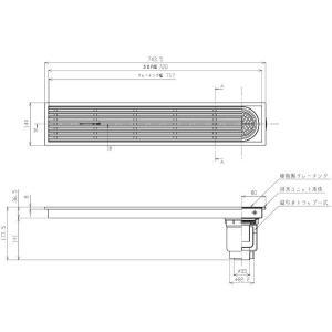 浴室排水ユニット TOTO EWB623SR 縦引きトラップ 樹脂製グレーチング 非防水層タイプ 150角タイル用 [■] maido-diy-reform