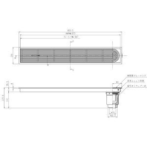 浴室排水ユニット TOTO EWB624SR 縦引きトラップ 樹脂製グレーチング 非防水層タイプ 150角タイル用 [■] maido-diy-reform