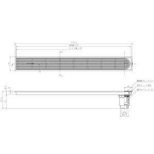 浴室排水ユニット TOTO EWB625SR 縦引きトラップ 樹脂製グレーチング 非防水層タイプ 150角タイル用 [■] maido-diy-reform