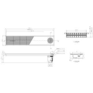浴室排水ユニット TOTO EWB633SR 縦引きトラップ 樹脂製グレーチング 非防水層タイプ 200角タイル用 [■] maido-diy-reform