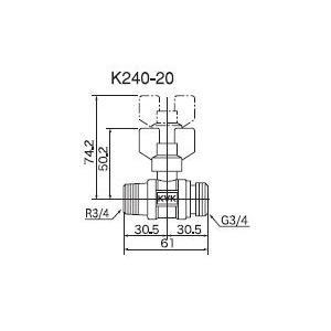 ボールバルブ KVK K240-20 単水栓 耐熱ボールバルブ maido-diy-reform 02