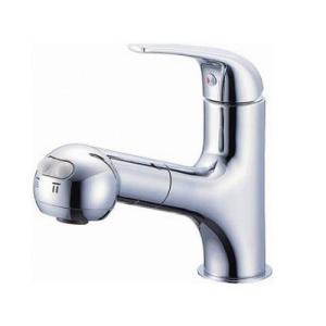 【ポイント最大 10倍】水栓金具 三栄水栓 K3703JV-13 シングルスプレー混合栓(洗髪用) [□]