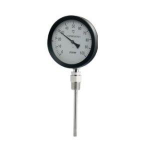 水栓金具 カクダイ 649-907-50A ストレート型 結婚祝い 注文後の変更キャンセル返品 バイメタル製温度計