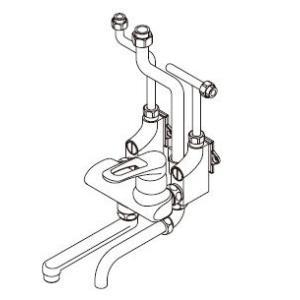 ショッピング ワンレバー式混合水栓 イトミック MZ-5N3 まぜまぜ MZ-N3シリーズ 露出配管 壁掛型湯沸器EWシリーズ専用 § 限定価格セール