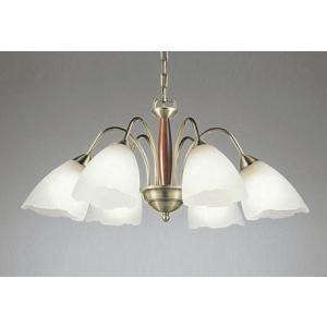 オーデリック OC006487LC1 ランプ別梱 シャンデリア LEDランプ 連続調光 !超美品再入荷品質至上! 真鍮ブロンズメッキ 電球色 オーク 〜10畳 調光器別売 輸入