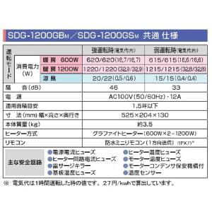 高須産業 涼風暖房機 SDG-1200GSM 脱衣室・トイレ・小部屋モデル 100V 電源プラグ(コンセント差込)タイプ [■]|maido-diy-reform|02