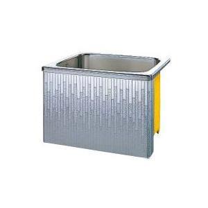 クリナップ 浴槽 SDL-91AW(R・L) モダンブロック・ステンレス浴槽 間口90cm 据置式1方全エプロン [♪△]|maido-diy-reform
