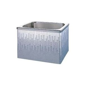 クリナップ 浴槽 SDL-92AW(R・L) モダンブロック・ステンレス浴槽 間口90cm 据置式2方全エプロン [♪△]|maido-diy-reform