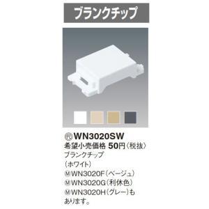 電設資材 パナソニック WN3020H グレー ブランクチップ [∽]
