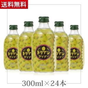 1ケース 24本ドリアンサイダー 瓶 300ml 友桝飲料 ★(北海道、沖縄を除く)★ ジュース お茶