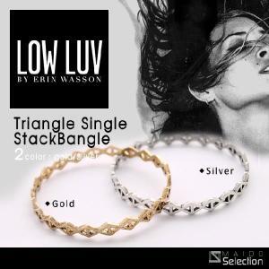 ローラブ ブレスレット バングル レディース メンズ ゴールド シルバー ブランド プレゼント Low Luv Triangle Single Stack Bangle|maido-selection