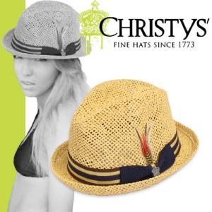 クリスティーズ ハット アミーゴ CCS516 CHRISTYS' HAT AMIGO クラウン CROWN ストローハット カンカン帽|maido-selection