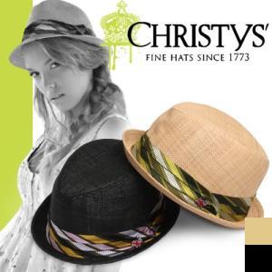 クリスティーズ ハット マンハッタン CCS717 CHRISTYS' MANHATTAN クラウン CROWN ストローハット カンカン帽|maido-selection