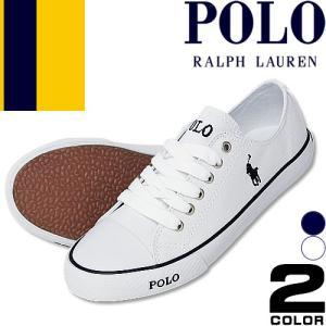 ポロ ラルフローレン スニーカー レディース スリッポン 靴 ホワイト 白 紺 ネイビー キャンバス Polo Ralph Lauren GIBBS