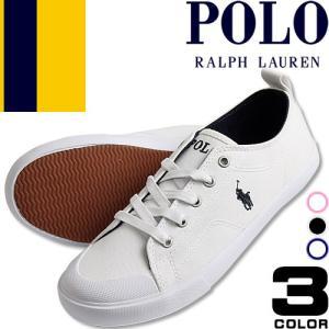 ポロ ラルフローレン Polo Ralph Lauren スニーカー レディース 白 黒 ホワイト ...