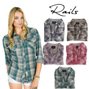 レイルズ シャツ ネルシャツ チェックシャツ レディース はおり 長袖 おしゃれ 大きいサイズ Rails maido-selection