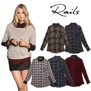 レイルズ シャツ ネルシャツ チェックシャツ レディース はおり 長袖 おしゃれ 大きいサイズ Rails Cameron Shirt maido-selection