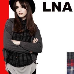 LNA エルエヌエー クロップドフランネル シャツ Cropped Flannel Shirts|maido-selection