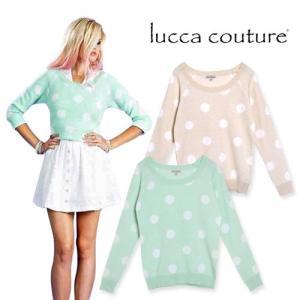 ルッカクチュール セーター ニット トップス プルオーバー レディース ブランド ゆったり 大きいサイズ 柄 ピンク おしゃれ 可愛い Lucca Couture maido-selection
