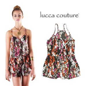 Lucca Couture ルッカクチュール MIXカラープリント ロンパース メール便発送|maido-selection