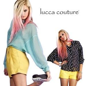 ルッカクチュール ブラウス シャツ レディース 長袖 大きいサイズ おしゃれ 花柄 ドルマン ストライプ シースルー Lucca Couture|maido-selection