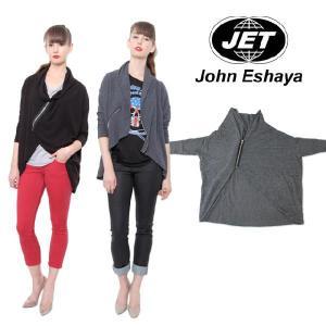 ジェット JET アンバランスジップカーディガン Angle Zip Sweater|maido-selection