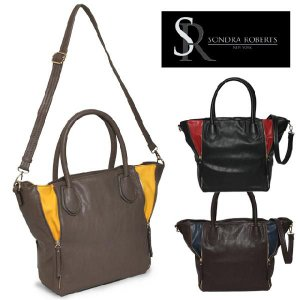 サンドラロバート Sondra Roberts ベター&ベスト ジッパーバッグ Zipper Detail Shopper|maido-selection
