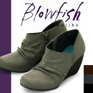 ブローフィッシュ ブーツ ショートブーツ レディース ブーティ アンクルブーツ ヒール ショート ブラック 歩きやすい 厚底 Blowfish BAEZ|maido-selection