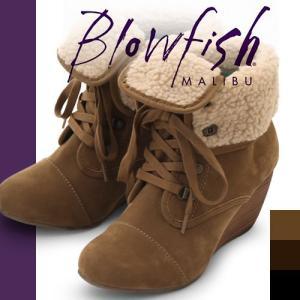 ブローフィッシュ ブーツ ショートブーツ レディース ヒール ショート ブラック スエード ムートン ボア 歩きやすい 厚底 インヒール Blowfish BUSTER SHR|maido-selection