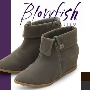 ブローフィッシュ ブーツ ショートブーツ レディース ブーティ ヒール ショート 歩きやすい 厚底 インヒール ウェッジソール 痛くない Blowfish SCRIPT|maido-selection