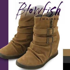 ブローフィッシュ ブーツ ショートブーツ レディース ヒール ショート ブラック 歩きやすい 厚底 インヒール Blowfish TYNA|maido-selection