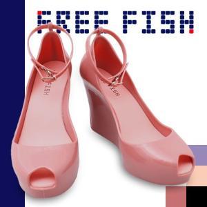 フリーフィッシュ バルーンモーリー FREE FISH Balloon Molly オープントゥ アンクルストラップ ウェッジソール サンダル パンプス|maido-selection