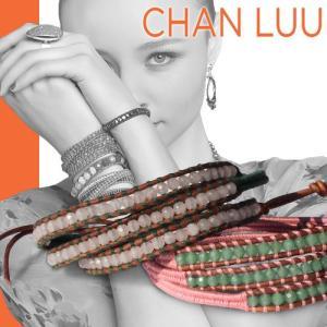 チャンルー CHAN LUU ブレスレット 正規品 スレッド ラップブレスレット ピンクリボン チャリティー|maido-selection