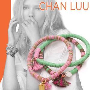 チャンルー CHAN LUU ストレッチ ブレスレット 正規品 ピンクリボン チャリティー|maido-selection