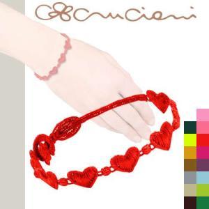 クルチアーニ c ブレスレット Cruciani ハート レースブレスレット 刺繍ブレスレット|maido-selection