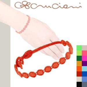 クルチアーニ c ブレスレット Cruciani マルテ レースブレスレット 刺繍ブレスレット|maido-selection