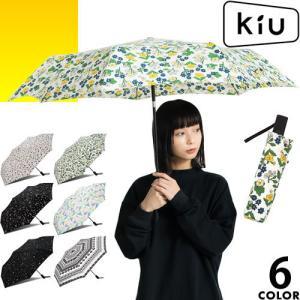 kiu キウ 傘 折りたたみ傘 レディース メンズ 自動開閉 軽量 超軽量 大きい 晴雨兼用傘 UV...