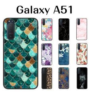 Galaxy A51 ケース 韓国 花柄 大理石 かわいい maikai-leather