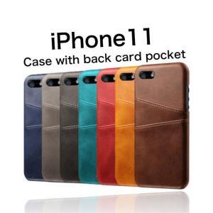 iPhone11 ケース 背面収納 カードホルダー|maikai-leather