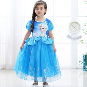 プリンセス ドレス 子供 ワンピース アナ 雪の女王 エルサ ラプンツェル アリス 白雪姫 ちいさな...