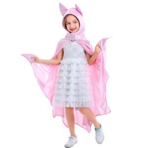 バットマン コスプレ 子供 ハロウィン 衣装 女の子 バットガール  コウモリ 蝙蝠 マント 子供用...