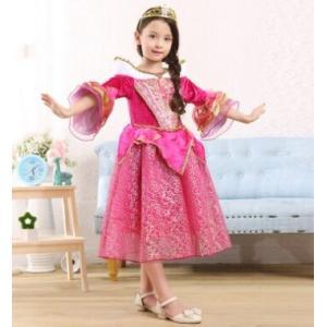 34bab9702a328 xh03白雪姫 コスプレ ディズニー プリンセス 子供 こども お姫様 お遊戯会 コスチューム サテン ロング ドレス 女の子
