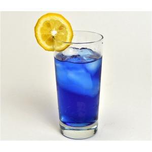 青すぎるけど天然ハーブタイで人気の飲み物バタフライピーというハーブをベースに使っていますレモンを入れ...
