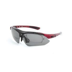 送料無料 olink(オーリンク) 偏光レンズ スポーツサングラス フルセット 専用交換レンズ5枚 Olink203-RD レッド mail-order-style