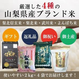 山梨県産ブランド米 4種 セット 2kg(梨北信玄米・梨北米・武川米・よんぱち米 各2kg×4袋)|mailife