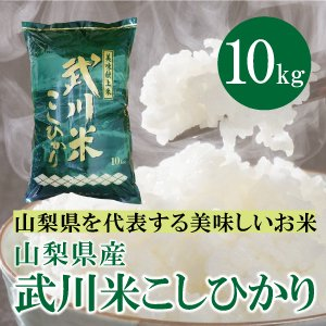 山梨県産  武川米 コシヒカリ  10kg  白米 通販 南アルプスの清流水で育った美味しいお米|mailife