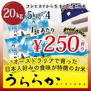 豪州米うららか 20kg[5kgx4] 豪州米 こしひかり オーストラリア 海外米 外国米 低価格 高品質 安い 美味しい uraraka 20kg|mailife
